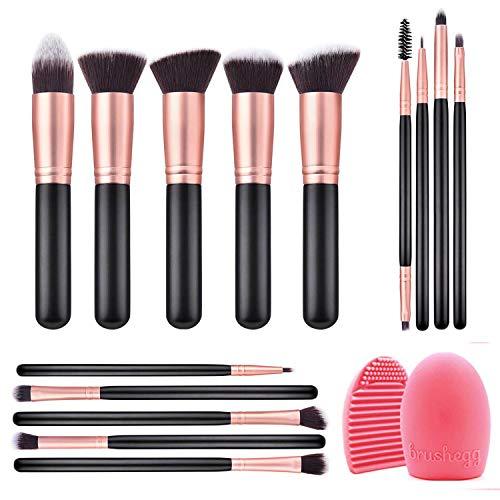 IFORU Brochas de Maquillaje 14 Piezas, Juegos Brochas de Maquillaje con Cerdas Sintéticas Suaves, Set…