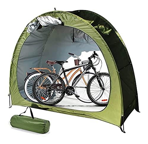 Stoccaggio di biciclette Capannoni per esterni Campeggio impermeabile Camping Tenda Bicicletta - 210D Tessuto Oxford Stoccaggio per bici da esterno Copertura impermeabile per esterni Outdoor Bicycle S