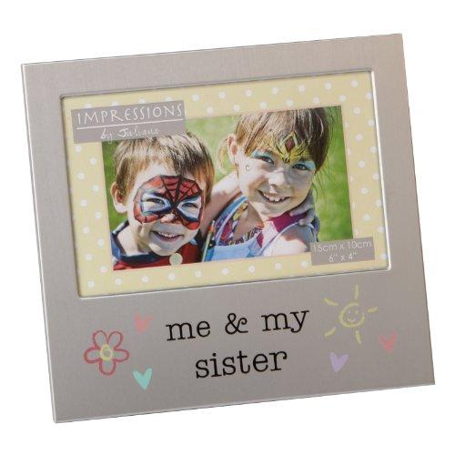 Me and My Sister Photo Frame Brushed Aluminium Juliana Coll
