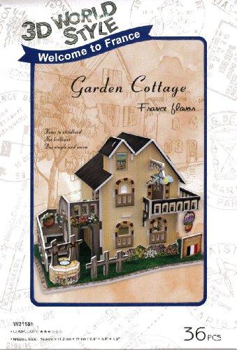 3D puzzle en trois dimensions 3D style World Series Garden Cottage W3118h (japon importation)
