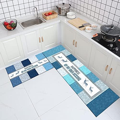 WESG Alfombra de Cocina de Estilo nórdico, Felpudo de Entrada para el Dormitorio de la Sala de Estar del hogar, Alfombra Absorbente Antideslizante para baño n. ° 5 50X160cm