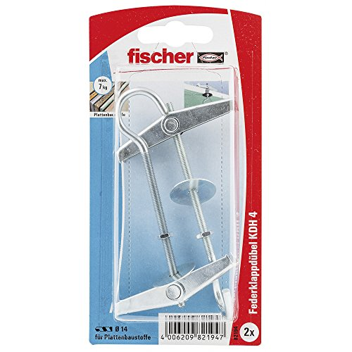 Fischer Kippdübel KDH 4 K SB-Karte, Inhalt: 2 x Federklappdübel, 082194