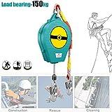 Anticaídas Dispositivo Retractil, Protección contra Caídas, Elemento Anti-caída Esencial en Trabajos Que Necesitan Estar Seguros y Tener Libertad de Movimiento 10m