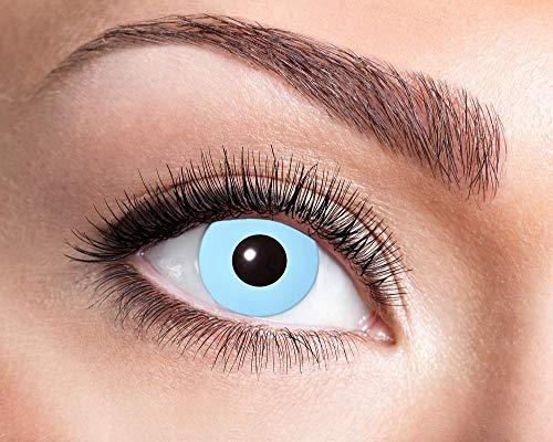 Eyecatcher Motivlinsen – Ice Blue 653-3,0 Dioptrien - farbige Jahreslinsen Kontaktlinsen