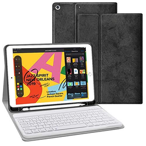 JUQITECH 10.2 iPad Smart Case With Wireless Detachable Keyboard
