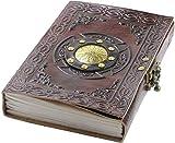 A5 Leder Buch der Schatten reisen, Tagebuch Notizbuch, geprägtes Zauberbuch, Tagebuch mit Schlossskript, leere Seiten