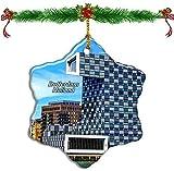 Kysd43Mill Holland Euromast Tower Rotterdam - Adornos navideños de porcelana con forma de estrella de doble cara para árbol de Navidad