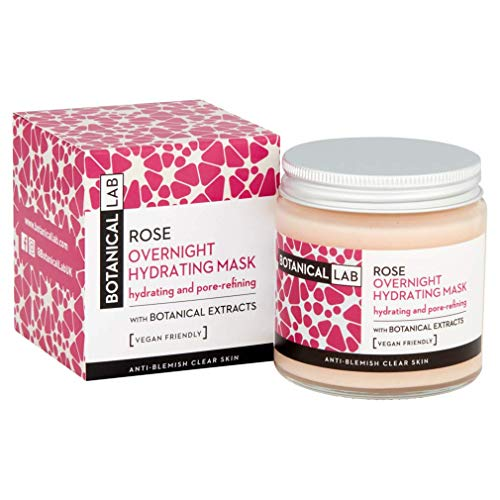 Botanical Lab Rose water Overnight Hydrating Face Mask 100ml - with...