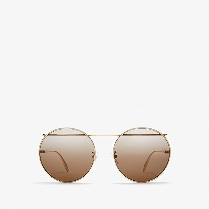 Alexander McQueen  AM0137SA (Gold) Fashion Sunglasses