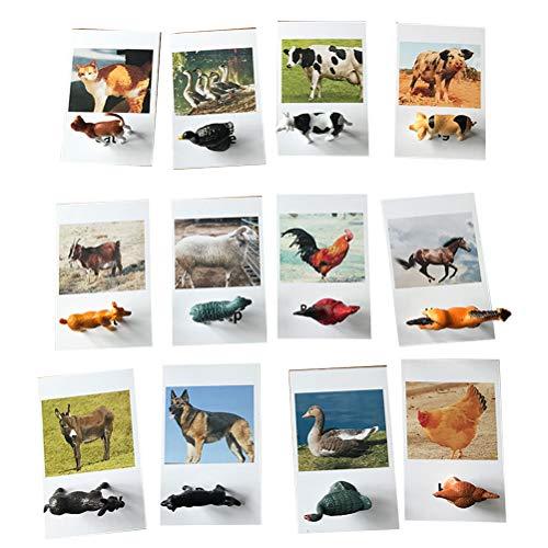 Uyuke 12 Piezas Juego de Figuras de Insectos Juego de Rompecabezas de Juego de Insectos en Miniatura Juego de cognición de Aprendizaje temprano para niños en Edad Preescolar Bebés y niños