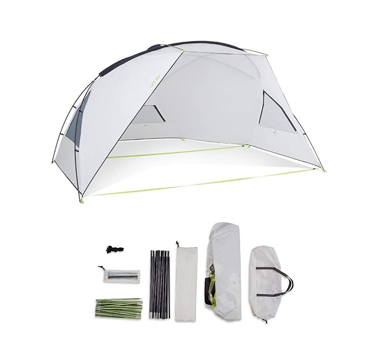HKTK Awning Waterproof Canopy Awning/Garden Barbecue Tent, Portable Outdoor Beach Tent, Portable Sun Shelter with Sun Protection
