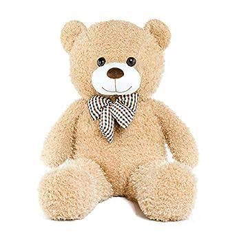 DOLDOA Big Teddy Bear Stuffed Animals Plush Toy for Girlfriend Children  39 inch Tan