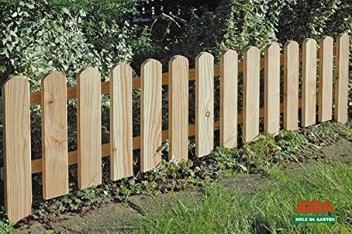 dynamic24 8x Steckzaun 120 x 30 cm Gartenzaun Holz Zaun Beetbegrenzung Lattenzaun