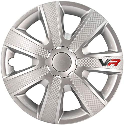 Autostyle Set Wheel Covers VR 13 inch Silver Carbon Look Logo product image