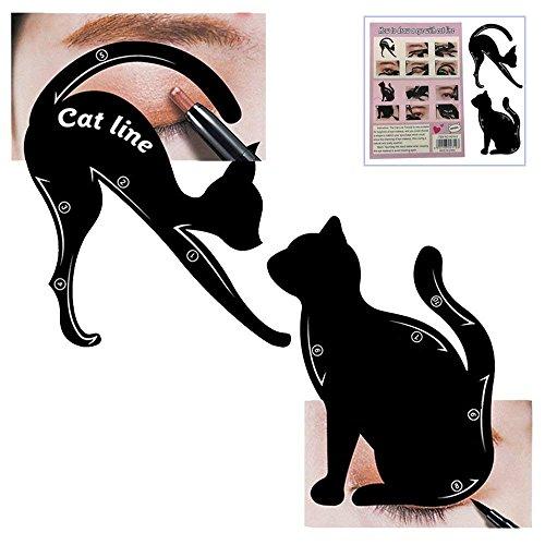 biggroup Cat Eyeliner Stencils mat PVC Smokey Eyeliner sjabloon sjabloon stempel multifunctionele applicators oogschaduw make-up gereedschap