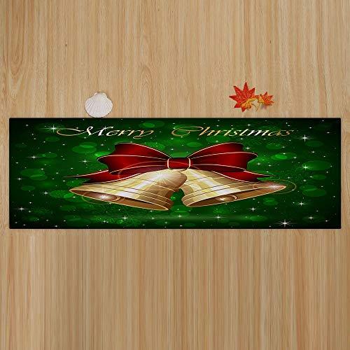 Janly Clearance Sale Feliz Navidad Feliz Feliz Feliz Navidad Feliz Decoración del Hogar Hogar Alfombras Decoración 40 x 120 cm, Decoración del Hogar para el Día de Pascua (verde)