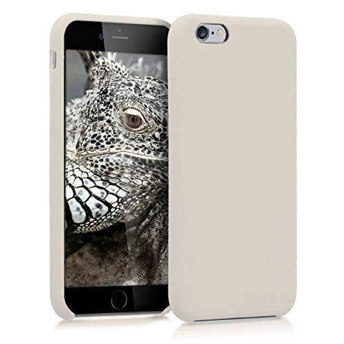 kwmobile Hülle kompatibel mit Apple iPhone 6 / 6S - Handyhülle gummiert - Handy Hülle in Creme