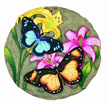 Spoontiques - Garden Décor - Butterfly Stepping Stone - Decorative Stone for Garden