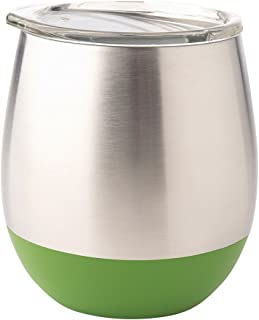U Konserve - Insulated Stainless Steel Tumbler, Keeps Beverages Hot or Cold, Environment Friendly Glassware, Alternative to Breakable Glass (8 oz, Grass)