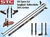 STC Sport Carbon Langlauf Stock Skating Nordic Blading Roller Stöcke Skike (155 cm)
