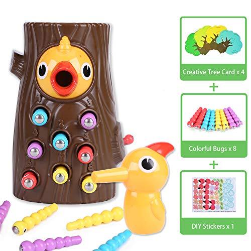 Bdwing Juguete Educativo para niños y niñas de 2 3 4 años: Juego magnético para niños con Colores Que desarrolla Habilidades cognitivas, físicas y emocionales en bebés y niños en Edad Preescolar