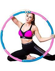 WELLXUNK Hoelahoep, hoelahoepel die kan worden gebruikt voor gewichtsvermindering en massage, hoelahoep voor fitness/sport/thuis/kantoor/buikvorming