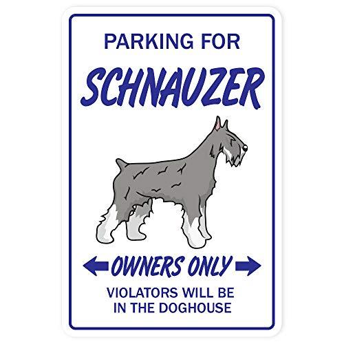 Inga Schnauzer Perro Pet Parking Road S perrera veterinaria Peluquería 30,5 x 40,6 cm