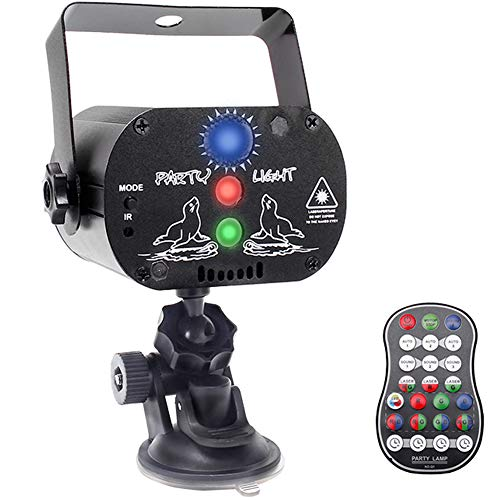 U`King Party Lights, DJ Disco Stage Light with Battery Powered Projector Sound Activated Strobe Light by Remote Control for Parties Karaoke Dancing Birthday Christmas Holiday
