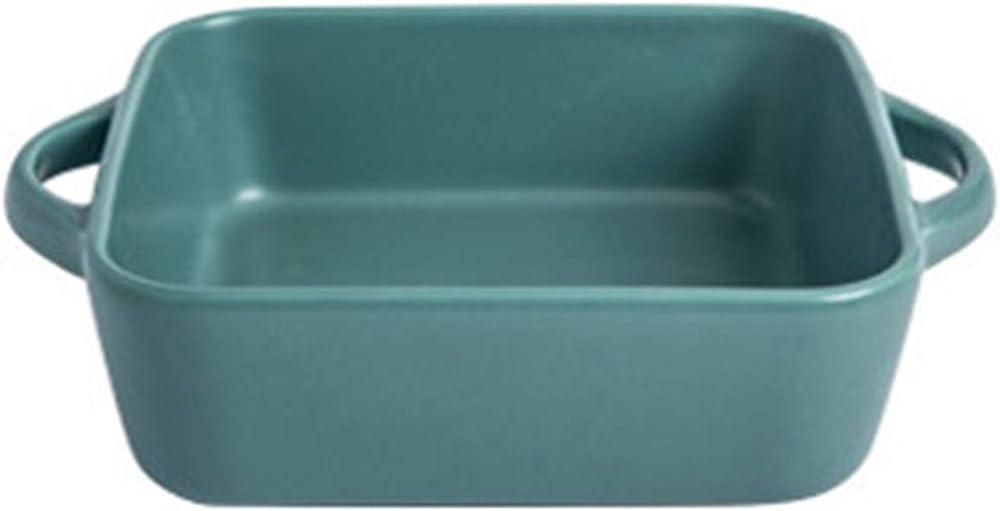 Teglia quadrata da forno , in porcellana , dimensioni: 20,5 * 16 * 5,5 cm