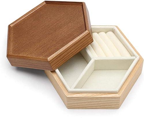 hasta 42% de descuento Joyero Caja de Almacenamiento de Madera Caja de Almacenamiento Almacenamiento Almacenamiento de Madera de Gran Capacidad Caja de joyería en Capas (Color   Wood Color, Talla   B 14.5  12.7  5.5cm)  suministro directo de los fabricantes