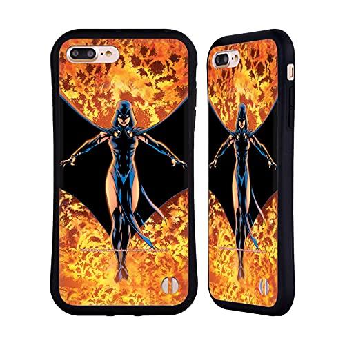 Head Case Designs Licenza Ufficiale Justice League DC Comics #8 Raven Teen Titans Arte Fumetto Cover Ibrida Compatibile con Apple iPhone 7 Plus/iPhone 8 Plus