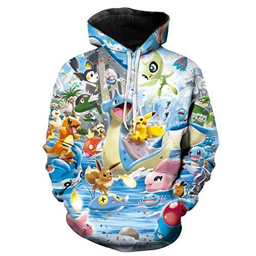 xingfuankang 3D Gedruckte Sweatshirts Pokemon Männer Frauen Kinder Kinder Hoodies Langarm Mode Junge Mädchen Kinder Streetwear Tops-Wya5342_S