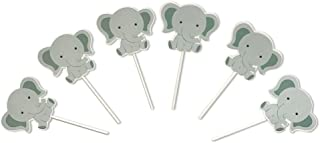 Cute Baby Elephant Cake Cupcake Toppers for Birthday Wedding Baby Shower Decoration 24 PCS