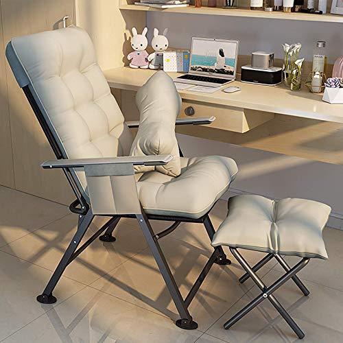 Especial /Simple Silla de juego de ángulo ajustable con almohada lumbar y reposapiés, patio backyard sillón ergonómico silla de computadora ergonómica, silla de escritorio ancho, silla reclinable pleg
