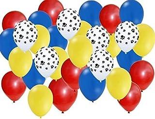 بالونات حفلات أقدام الحيوانات الأليفة من أماسكا، طباعة براثن، أحمر/أصفر/أزرق، مجموعة من 30 قطعة