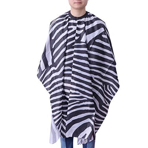 TENDYCOCO Zebra Print Kleid Friseursalon mit Schnappschneiden Haare Wasserdichtes Tuch Salon Zebradruck Friseur Hai für Salon Shop nach Hause