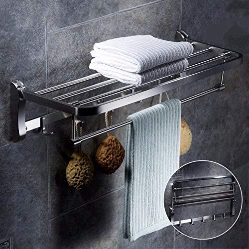 wangjian& Soporte para Toallas de baño, toallero Plegable, toallero de Acero Inoxidable...
