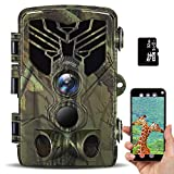 【2020 Upgrade Bluetooth】WiFi Trail Camera 20MP 1080P IP66Waterproof Hunting Wildlife Cam with 3 Infrared Sensors, 940nm IR LEDs Night Vision Motion Activated, 120° Wide Angle Lens, 0.2s Trigger Speed
