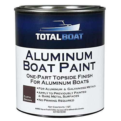TotalBoat - 511785 Aluminum Boat Paint for Canoes, Bass Boats, Dinghies, Duck Boats, Jon Boats and Pontoons (Earth Brown, Quart)