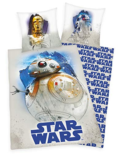 Klaus Herding GmbH Star Wars R2D2 BB8 Bed Linen 80 x 80 cm + 135 x 200 cm 100% Cotton
