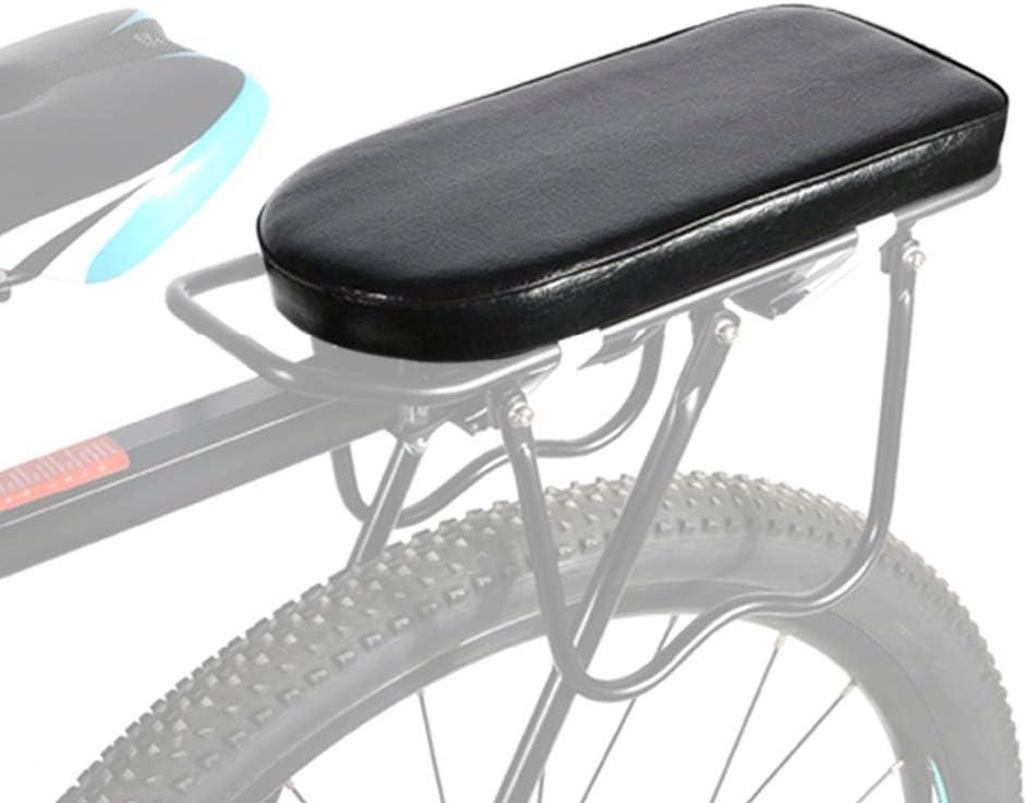 ASPIRER Cuscino Posteriore per Bicicletta,Posteriore Sedile Cuscino per Bambini,PU Spugna in Pelle Morbido Cuscino Rack per Bambini e Adulto,Bicicletta Parti,Bambini Sedile Posteriore Cuscino