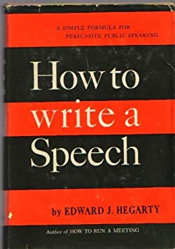 Hardcover How to write a speech Book