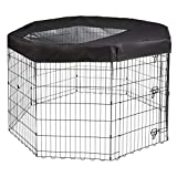Amazon Basics Metal Pet Playpen Mesh and Fabric Top Cover, All Sizes