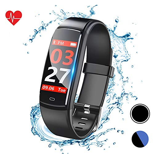 Fitness Tracker Watch, Activity Tracker with Heart Rate Monitor, Smart Watch with IP67 Waterproof, Smart Bracelet with Sleep Blood Pressure Monitor, Pedometer Watch for Android and iOS Smartphone