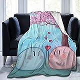 Clannad Dango Ultra-Soft Cozy Flannel Blankets Micro-Fleece Sofa Throw Lightweight Microfiber Bedding Blanket 60'X50'
