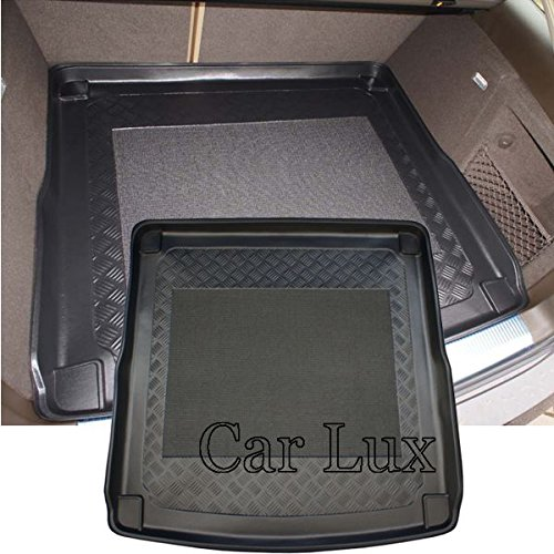 Car Lux AR01579 - Alfombra Bandeja Cubeta Protector cubre maletero a medida con antideslizante para A4 Avant