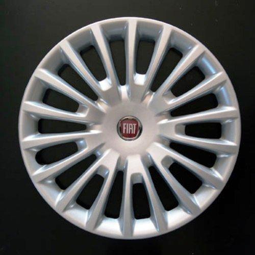 Jeu de 4 Enjoliveurs Neuf pour Fiat Bravo 2 2007> avec Roues Originales en 16 Pouces