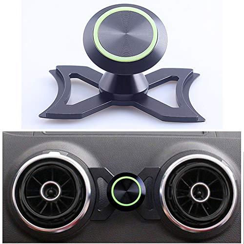 Airymap - Soporte de coche giratorio de 360 °, soporte para teléfono móvil, soporte de DAER, soporte magnético para cuna para Audi A3 / S3