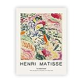 Resumen Henry Matisse dibujo lineal arte minimalista lienzo pintura cartel retro hogar pintura decorativa sin marco E 30x40cm