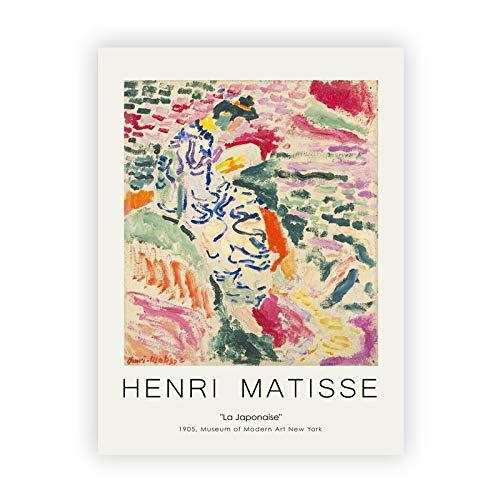 Carteles e impresiones en lienzo de arte desnudo azul de Henri Matisse pinturas en lienzo sin marco de arte desnudo para la decoración de la sala de estar G 60x80cm